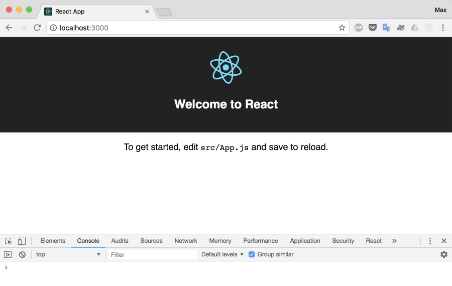 welcome to react